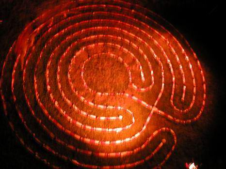 Light Labyrinth at Schloss Honhardt