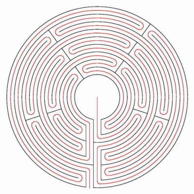 Der rote Faden im Labyrinth