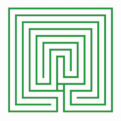 A quadratic classical labyrinth