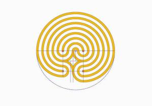 The classical labyrinth with constant paths