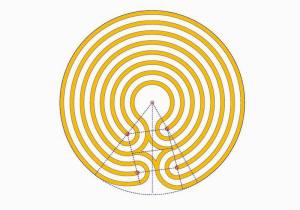 The centred Knidos labyrinth