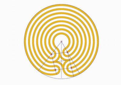Das zentrierte Knidos Labyrinth