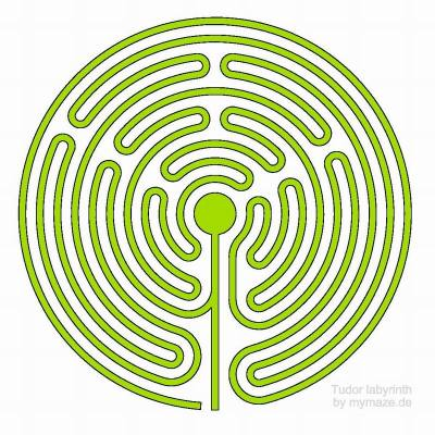 Outline of the Tudor labyrinth