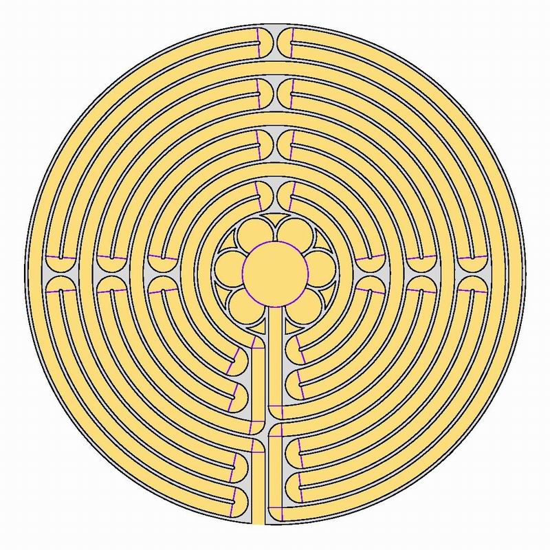 A Paved Chartres Labyrinth Blogmymaze