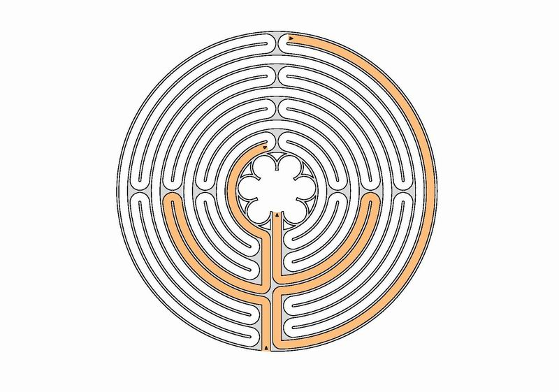 Chartres Labyrinth with 11 circuits