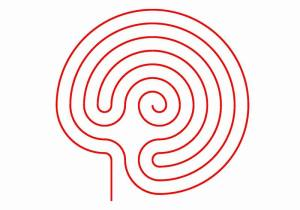 Aridne's Thread in the snail shell labyrinth