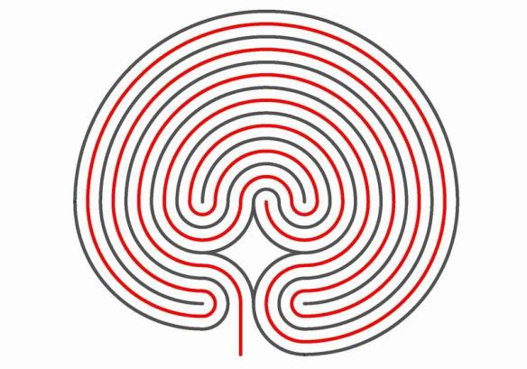 The classical seven circuit labyrinth