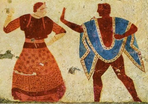 Etruskisches Tanzpaar