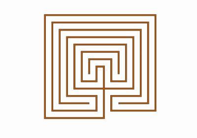 Das 7-gängige klassische Labyrinth