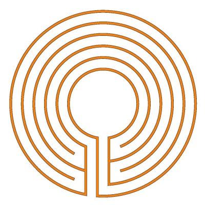 Das runde 5-gängige klassische Labyrinth