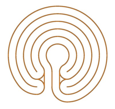 Das 5-gängige Knidos Labyrinth