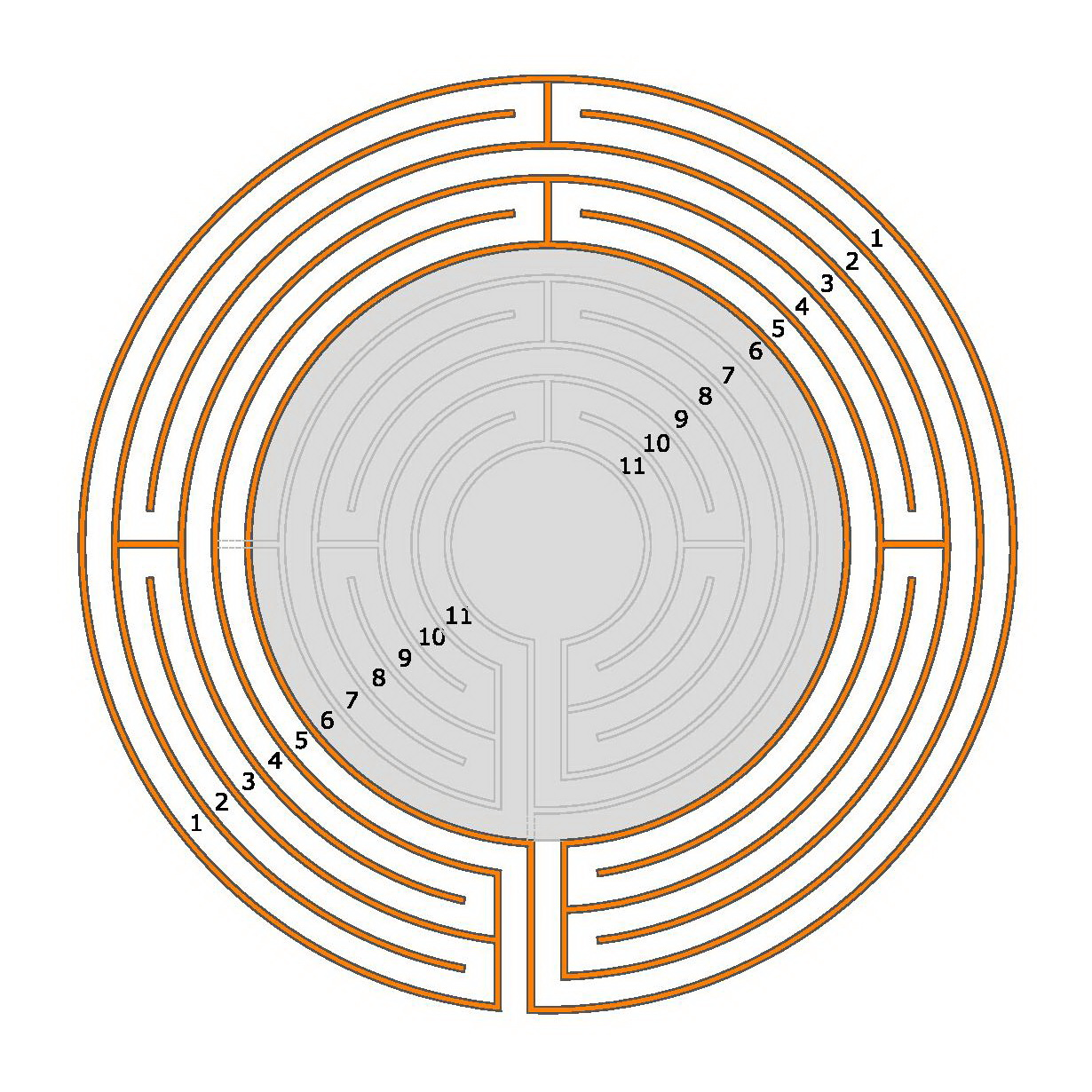 How to make a 5-circuit Classical Labyrinth from a 5-circuit ...