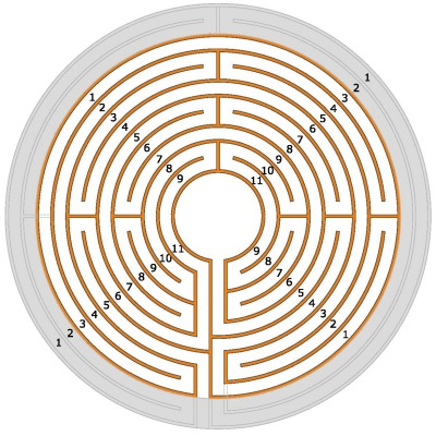 The entire Chartres labyrinth