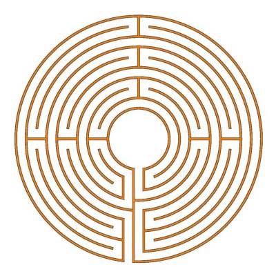 The 9-circuit Chartres labyrinth (type Hilton)