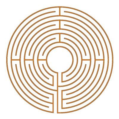 Das 9-gängige Chartres Labyrinth (Typ Hilton)
