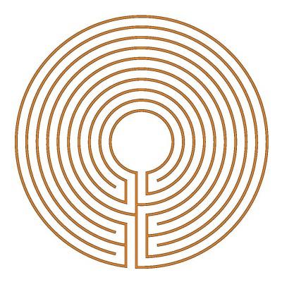 Das runde 9-gängige klassische Labyrinth (Typ Hilton)