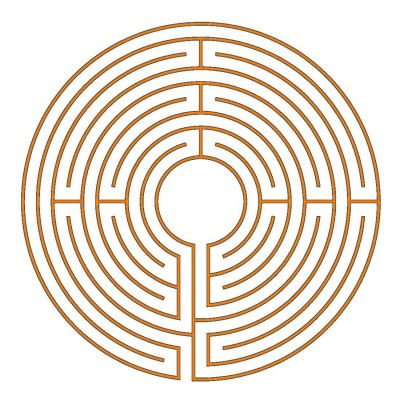 The 9-circuit Chartres labyrinth (type Munich)