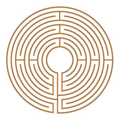 Das 9-gängige Chartres Labyrinth (Typ München)