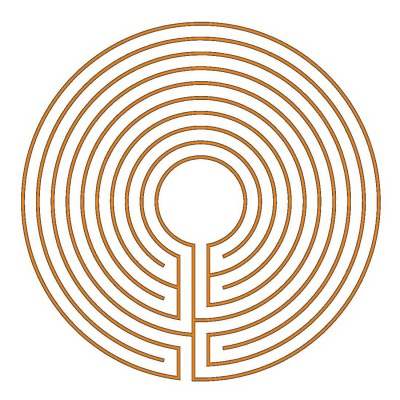 Das runde 9-gängige klassische Labyrinth (Typ München)
