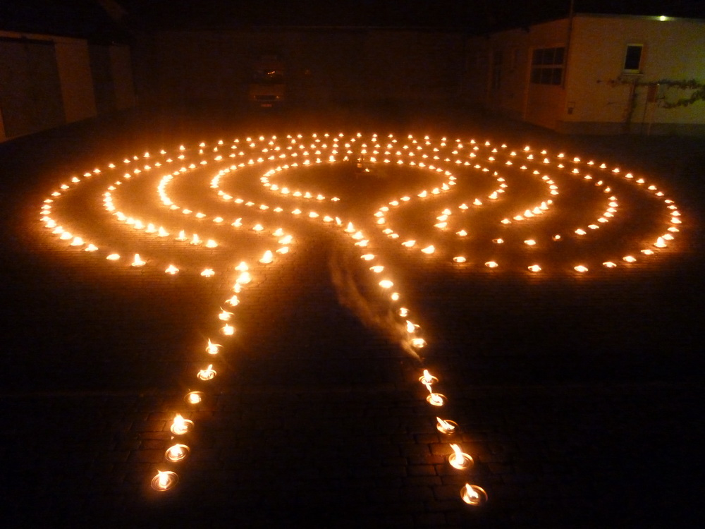 The Candle Labyrinth in the Night of the Churches at ...