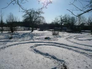 Das reale Schwanberglabyrinth
