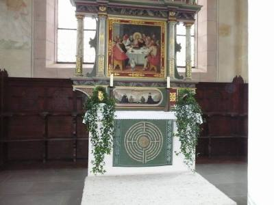 The altar with the antependium