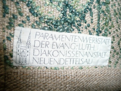 Label on the reverse side