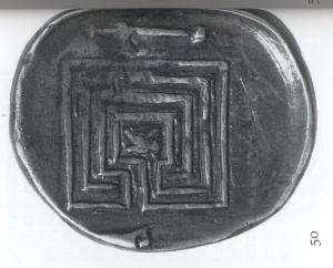 Quadratisches Labyrinth mit drei Umgängen 431-350 v.Chr.