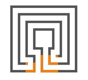 Das 3-gängige Knossos Labyrinth (quadratisch)