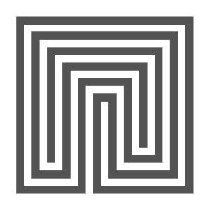 Quadratisches Labyrinth mit fünf Umgängen