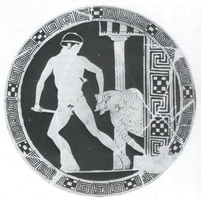Rotfigurige, attische Kylix um 440-430 v. Chr.