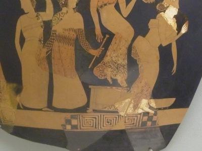 Vasenbild mit Tragödienchor 400 v. Chr.