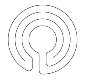 Ein 3-gängiges Knidos Labyrinth