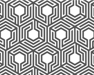 Labyrinthine honeycomb pattern