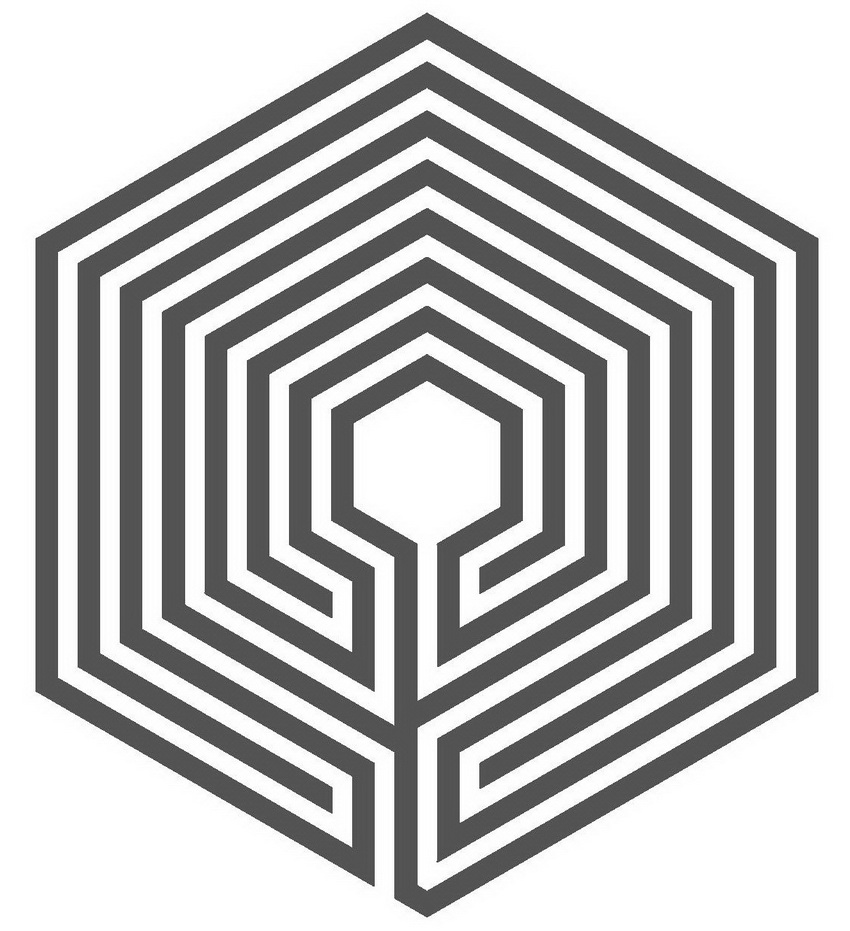 The 7 circuit labyrinth in hexagonal shape