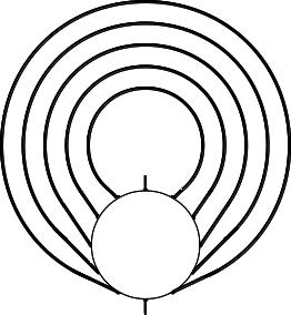 Abbildung 3: Die allgemeine Figur mit Eingang, 5 Umgängen und Zentrum