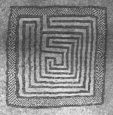 Abbildung 1. Mosaik - Labyrinth von Nîmes