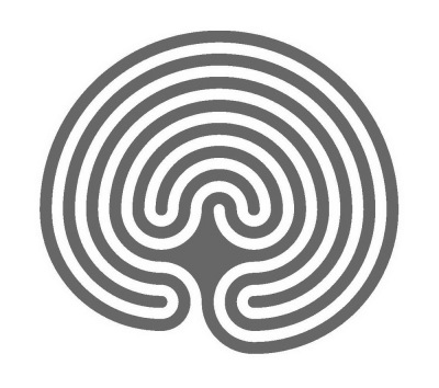 The left-hand classical labyrinth (walls)