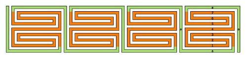 Das Diagramm für das römische Labyrinth