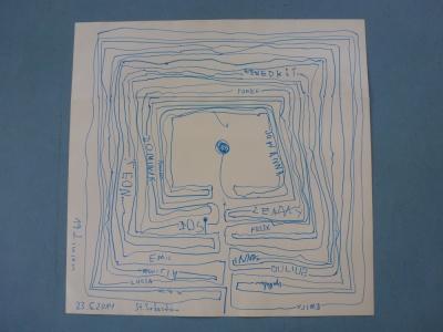 Ein 19-gängiges Labyrinth