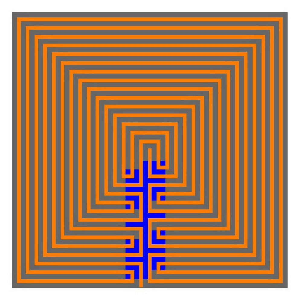Labyrinth Movement Wandering In Meanders Towards The