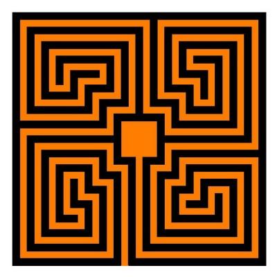 Römisches Labyrinth: Spiral-Typ