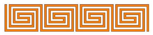 Römisches Labyrinth: Spiral-Typ als Diagramm
