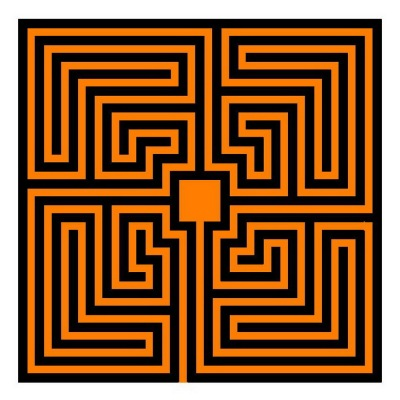 Römisches Labyrinth: Mäander-Typ