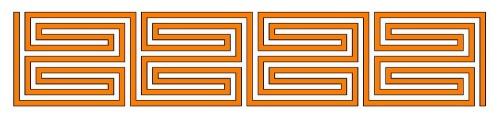 Römisches Labyrinth: Mäander-Typ als Diagramm