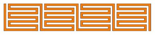 Römisches Labyrinth: Serpentinen-Typ als Diagramm
