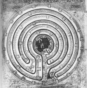 The Jericho Labyrinth (type von Xanten) in the Farhi Bible
