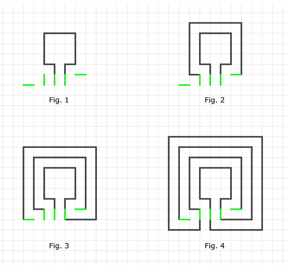 how to make a square classical 3 circuit labyrinth type knossos