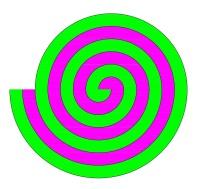 Eine Doppelspirale