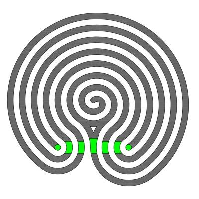 Das vergrößerte Indische Labyrinth